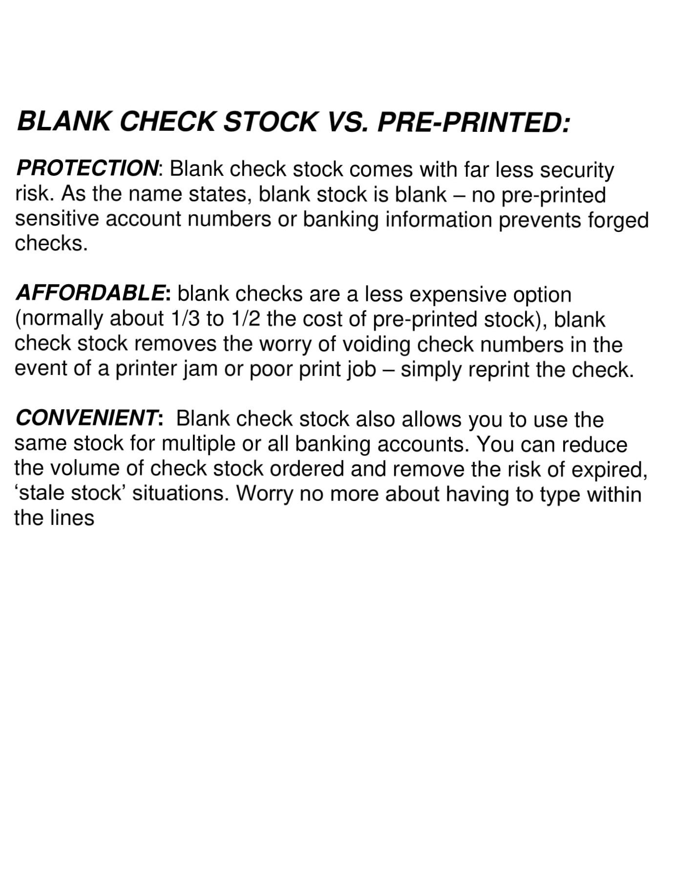 500 Blank Check Stock-Check on Top-Blue Marble Pattern-Compatible with Quickbooks,Quicken,Versacheck and More-(500 Laser Security Sheets-8.5''x11'' #24)-Made in USA with Pride! by Signature Forms (Image #7)