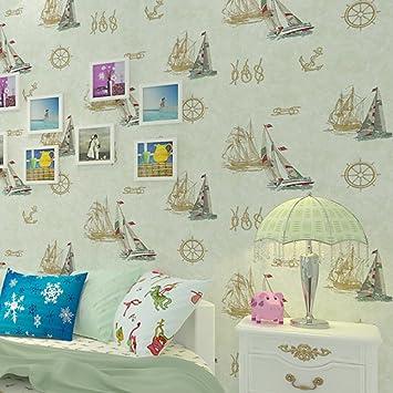 Englischen Stil Tapeten/Blue Östliches Mittelmeer-Tapete/ Kinder ...