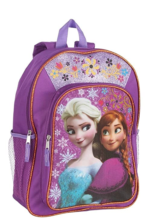 0d3e9c23fac Disney Frozen Anna   Elsa Girls Sparkle Backpack - 16