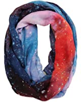 Galaxy Print Viscose Infinity Scarf