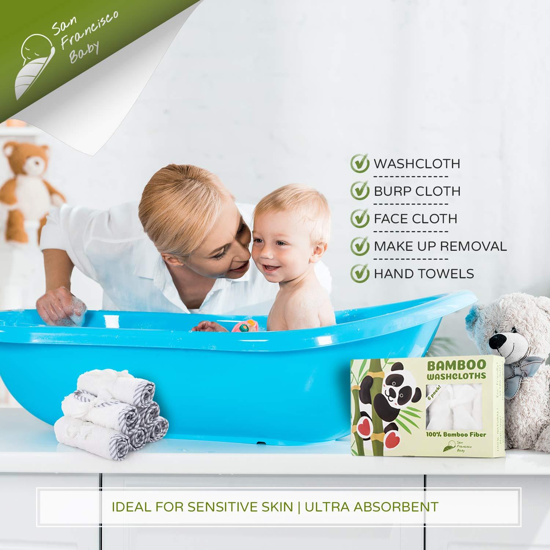 4 Pack Super absorbente y suave Baby Face Toalla para pieles sensibles Baby Manopla y toallas de mano de beb/é de toallitas en Premium Leche algod/ón