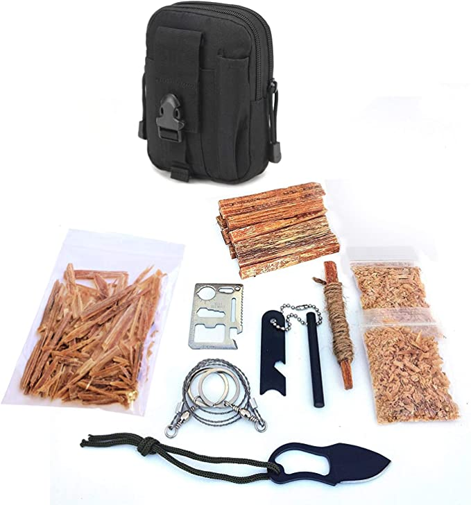Details about  / Survival Gear First Aid Kit Fire Starting 40 Pieces Ferro Rod Striker Bellows