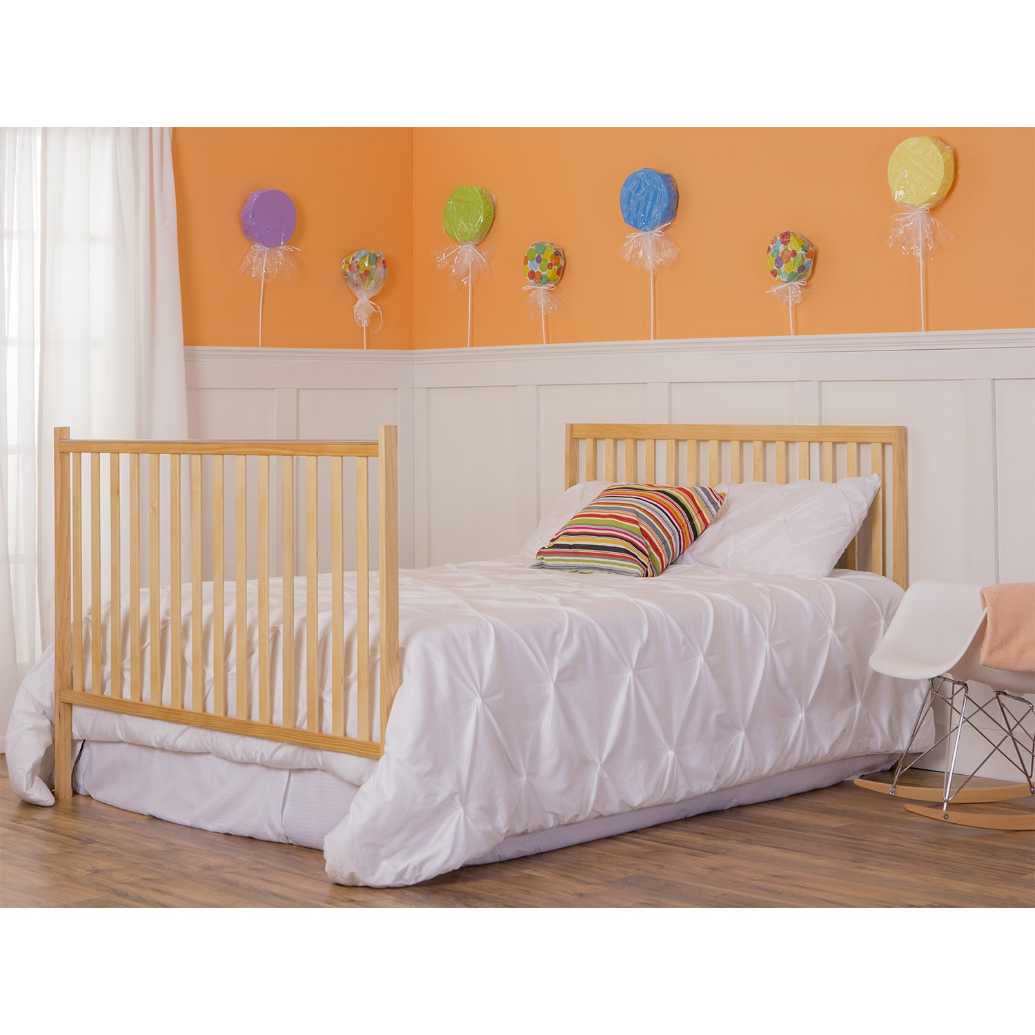 Dream On Me Synergy 5-in-1 Convertible, Crib, Natural by Dream On Me (Image #6)