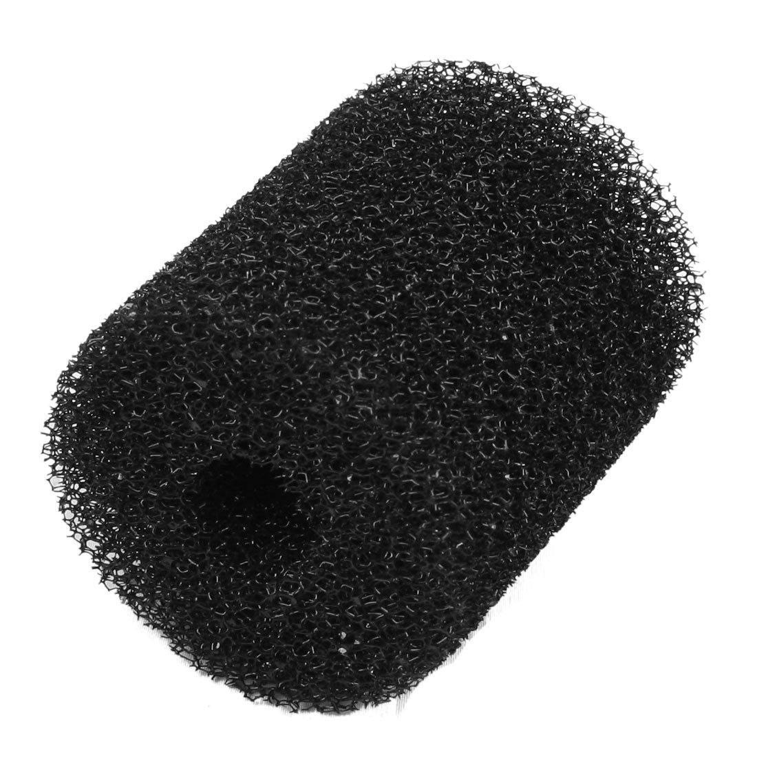 UXCELL riutilizzabile cilindrica Biochimica filtro spugna per acquario Fish Bowl, nero Sourcingmap a12122200ux0270