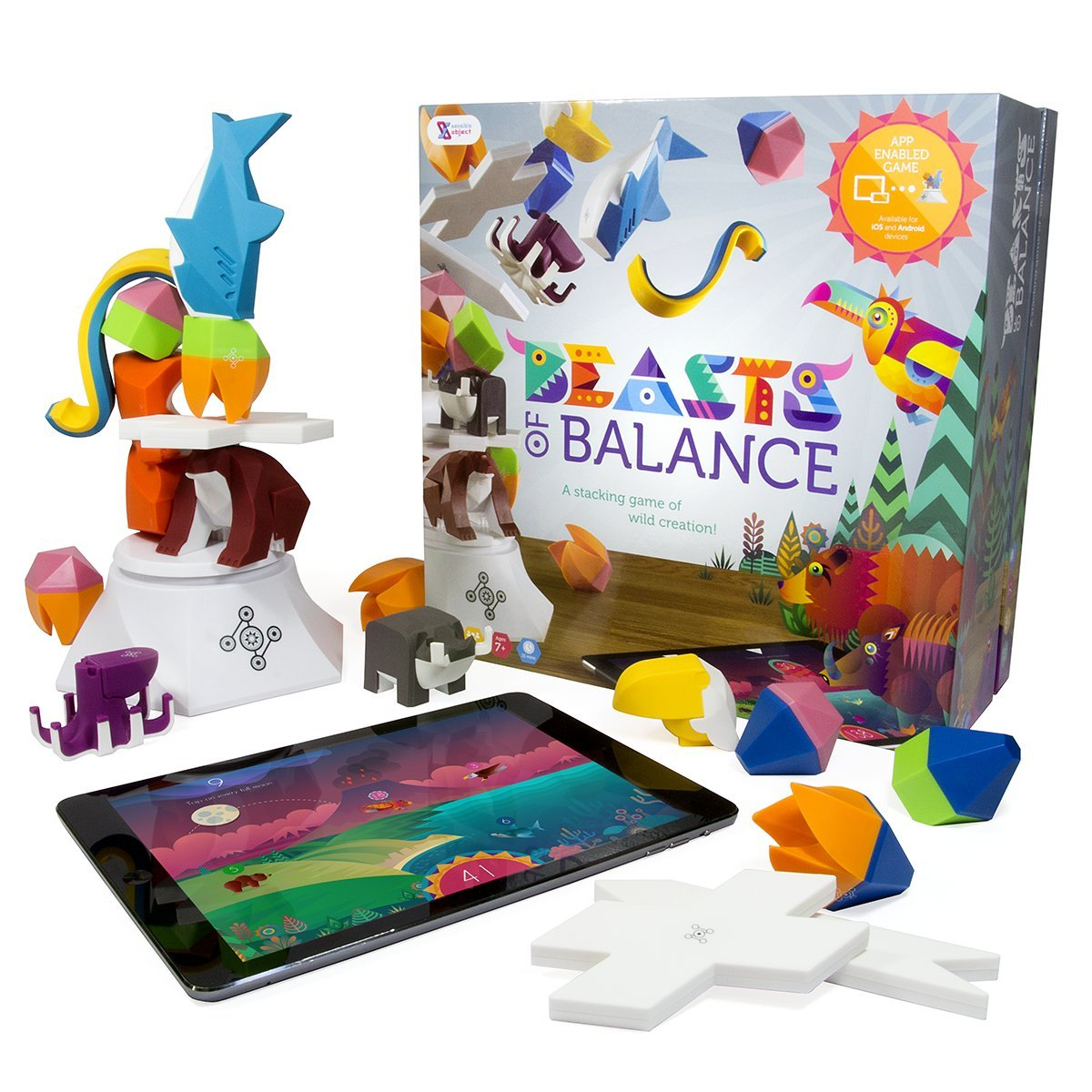 Beasts of Balance - A Digital Tabletop Hybrid Family Stacking Game For Ages 7+ (BOB-COR-WW-1/GEN) by Sensible Object