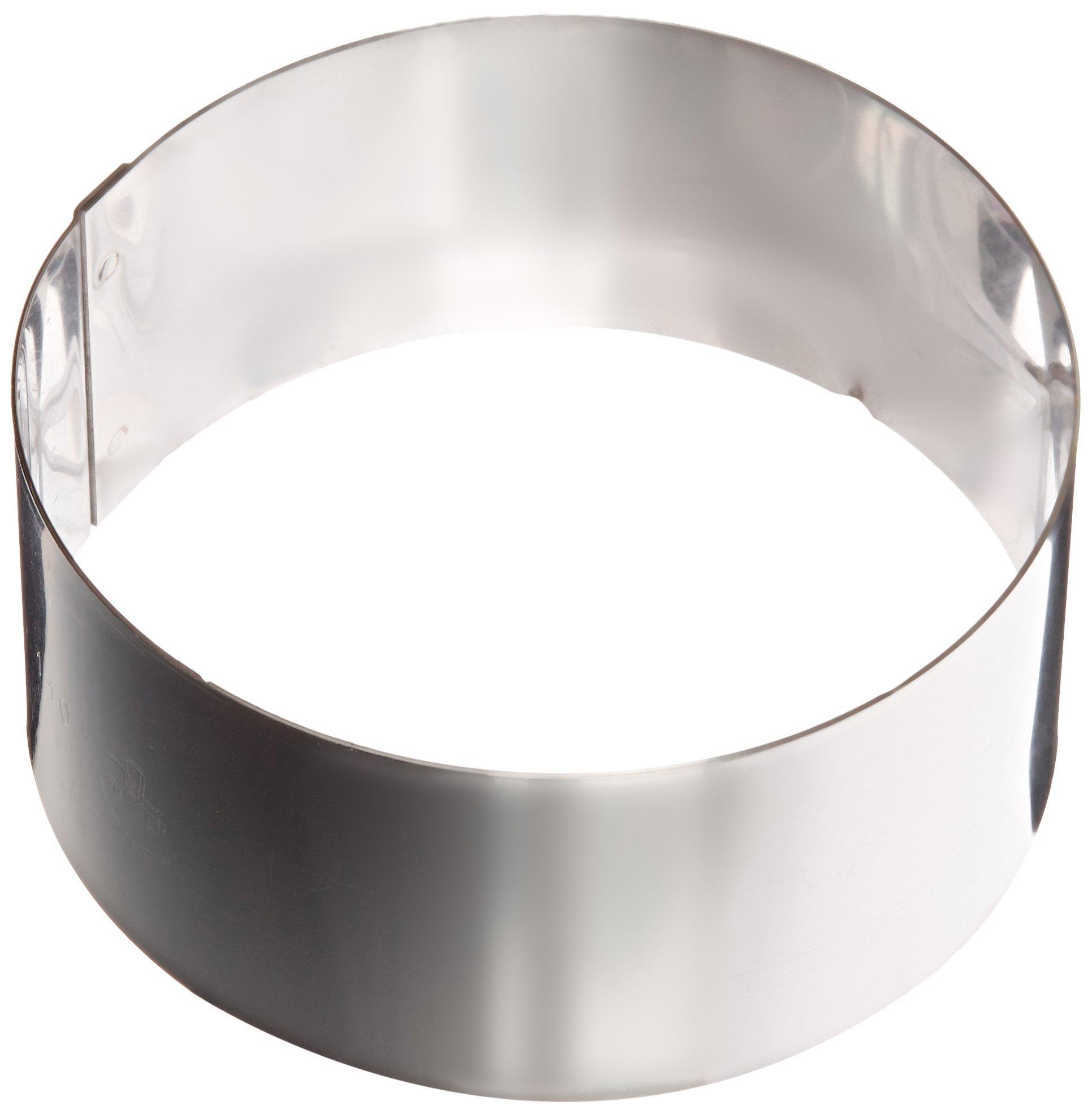 Matfer Bourgeat 371802 Ice Cake Ring, Silver
