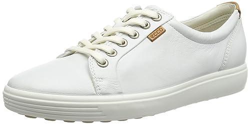 ECCO Soft 7 Ladies, Scarpe Derby con Lacci Donna, Colore Bianco (WHITE01007)