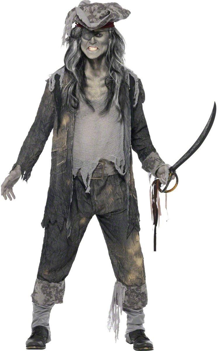 KULTFAKTOR KULTFAKTOR KULTFAKTOR GmbH Zombie Geister Pirat Halloween Kostüm grau L 10ac0e