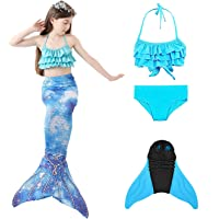 LIJINPIN Cola de Sirena para Traje de baño niñas Princesa de Sirena Cosplay para Nadar Cola de Sirena para niñas con…