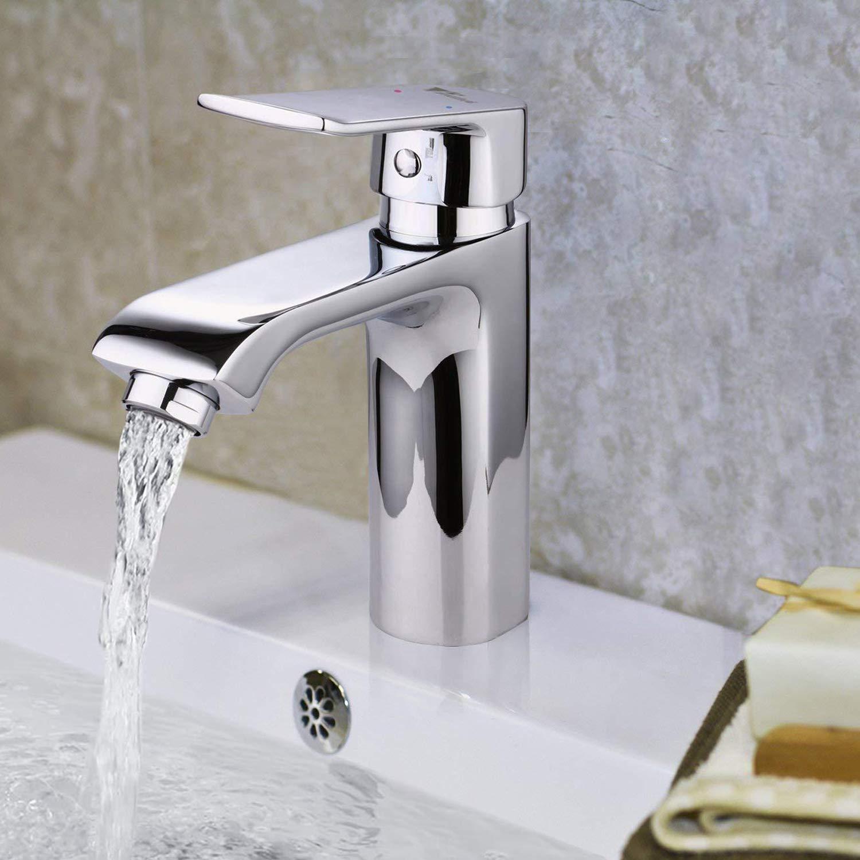 Amzdeal Grifo de Baño Durable con Función de Regulación de Agua Fría y Caliente Grifo de