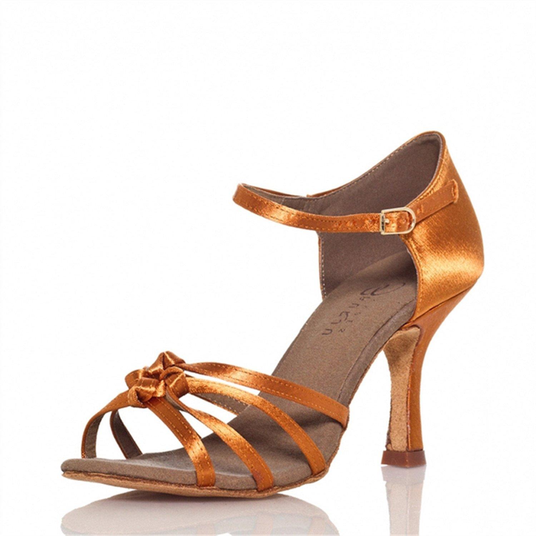 YFF Geschenke Frauen Dance schuhe Ballroom Latin 8cm Dance Tango Tanz schuhe 8cm Latin Bronze 40 fcc93b