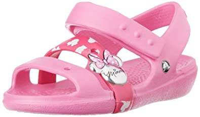 e1c30a35ae194 crocs Keeley Minnie Mouse Sandal (Toddler/Little Kid), Party Pink, 13