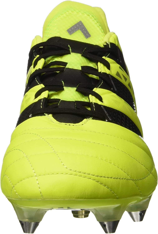 adidas Ace 16.1 SG Leather, Chaussures de Football Compétition Homme Jaune (Solar Yellow/Core Black/Silver Metallic)