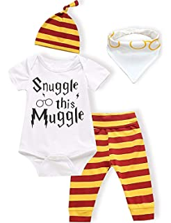 3e21b15d8 Baby Boys Girls Snuggle this Muggle Bodysuit and Striped Pants ...