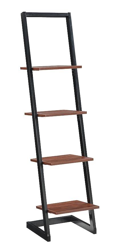 Convenience Concepts 4 Tier Ladder Bookshelf Black Cherry