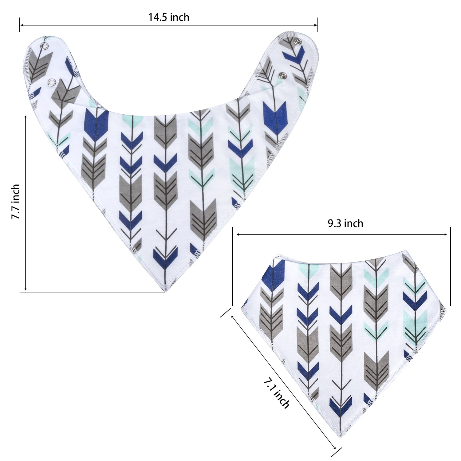 10-Pack Baby Bandana Drool Bibs for Drooling and Teething Boys Girls by MiiYoung by MiiYoung (Image #4)