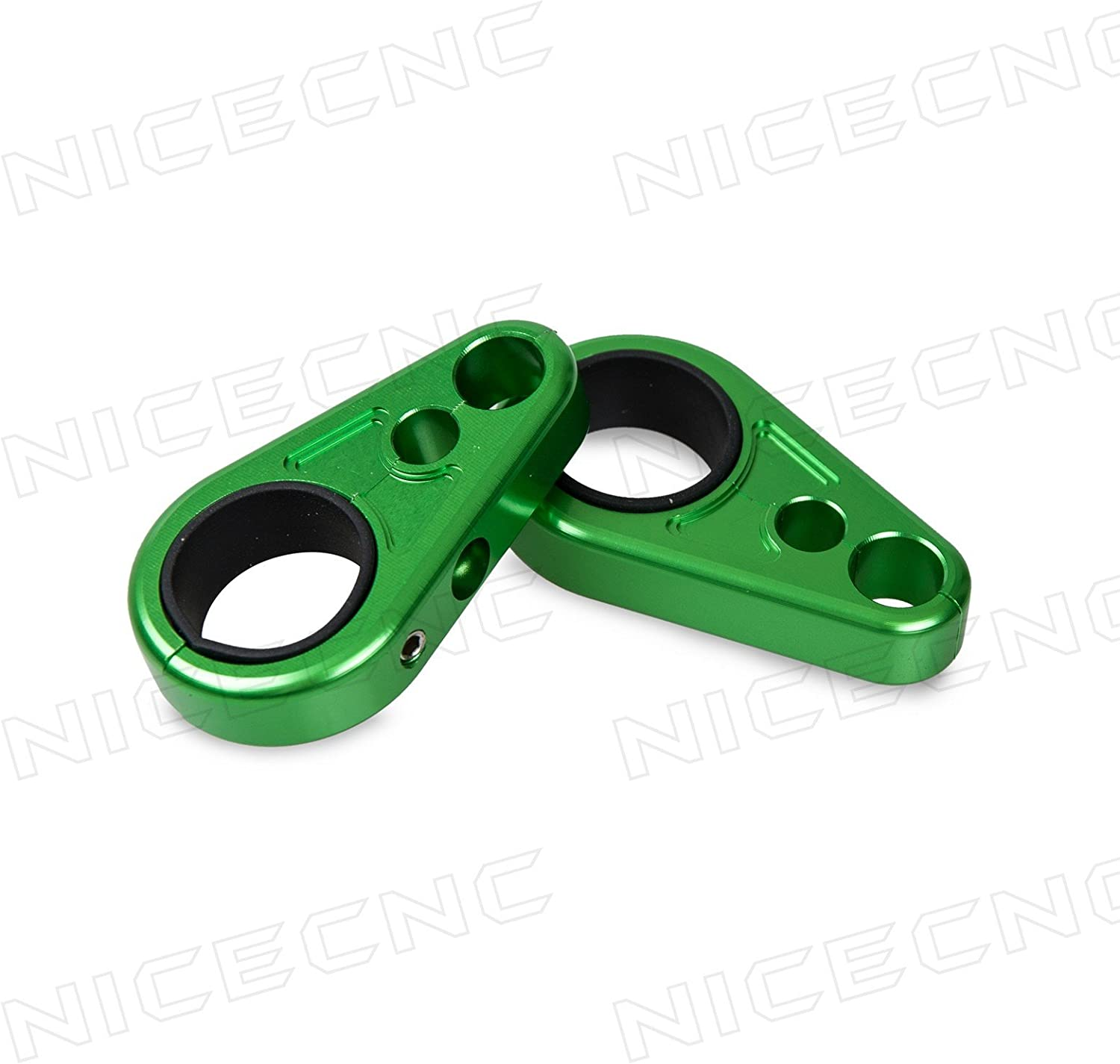 Billet Green Brake Line Clamps for Sport ATV with 1 or 3//4 ATV A-Arms
