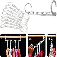 Magic Clothes Hangers, Multi-Function Space Saving Hanger Organiser Standard Closet Wardrobe Clothing Shirt Non Slip…