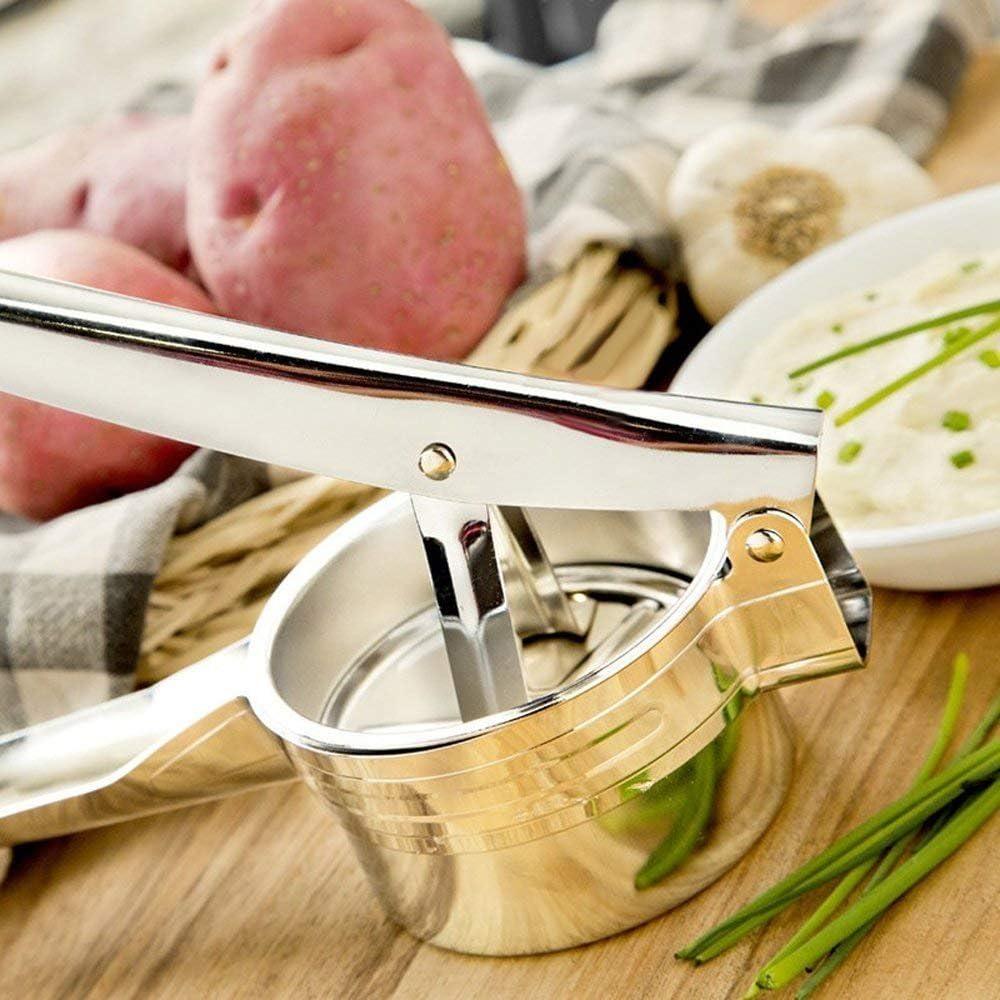 Dimensione 420 ml in 100/% Acciaio Inox Medio. JmeGe pressa Patate Adatta Anche per Altri Alimenti Come Frutta e Verdura