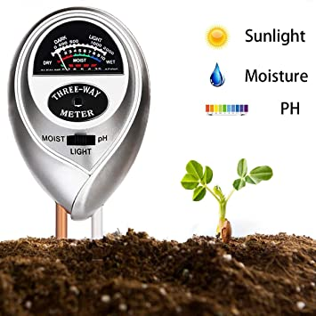 3 in 1 Soil Humidity Tester PH Moisture Light Test Meter for Garden Plant Flower