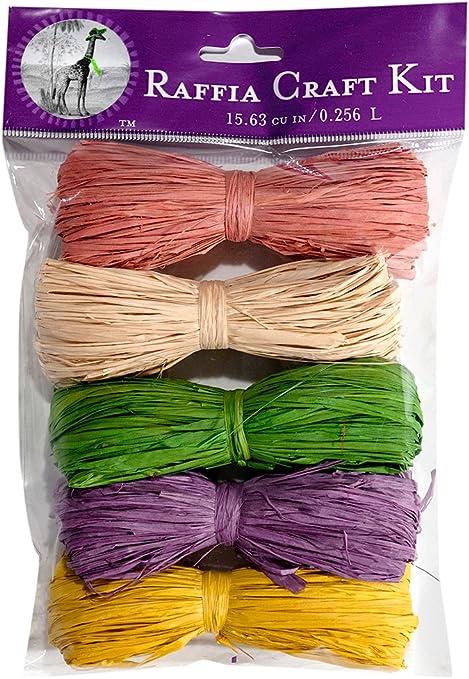 Super Moss 16 cu In. 5 Pack Fall Thanksgiving Raffia Craft Kit 40518 Basil, Golden, Rust, Terra Cotta, Brown