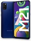 """SAMSUNG Galaxy M21 - Smartphone Dual SIM de 6.4"""" sAMOLED FHD+,Ttriple Cámara 48 MP, 4 GB RAM, 64 GB ROM Ampliables…"""