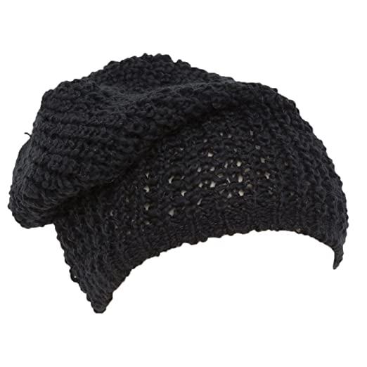 49c9185be74 Universal Textiles Ladies Womens Heavy Knit Slouch Beanie Hat (One Size) ( Black