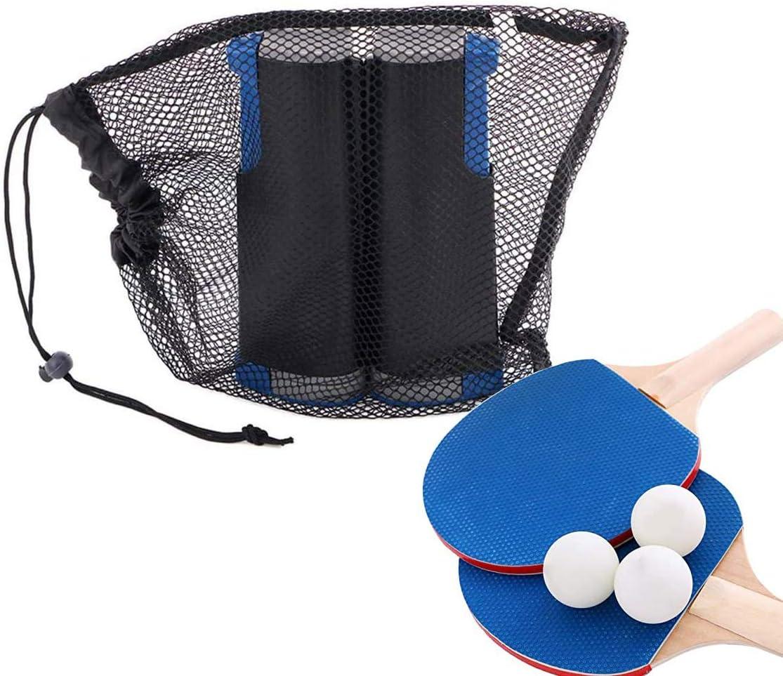 na - Juego de accesorios de red de tenis de mesa profesional, incluye 2 palas, 3 pelotas, 1 red retráctil de tenis de mesa