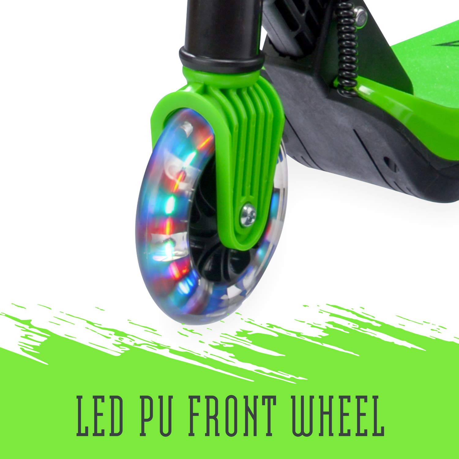 Xootz Patinete Plegable eléctrico Kids Elements con Rueda de luz LED y Manillar Plegable