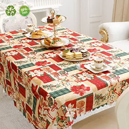 Superbe Christmas Tablecloth Fabric Table Cloth Wedding Celebration Dinner Table  Cover Heavy Cotton Table Cloth Rectangle 60x72