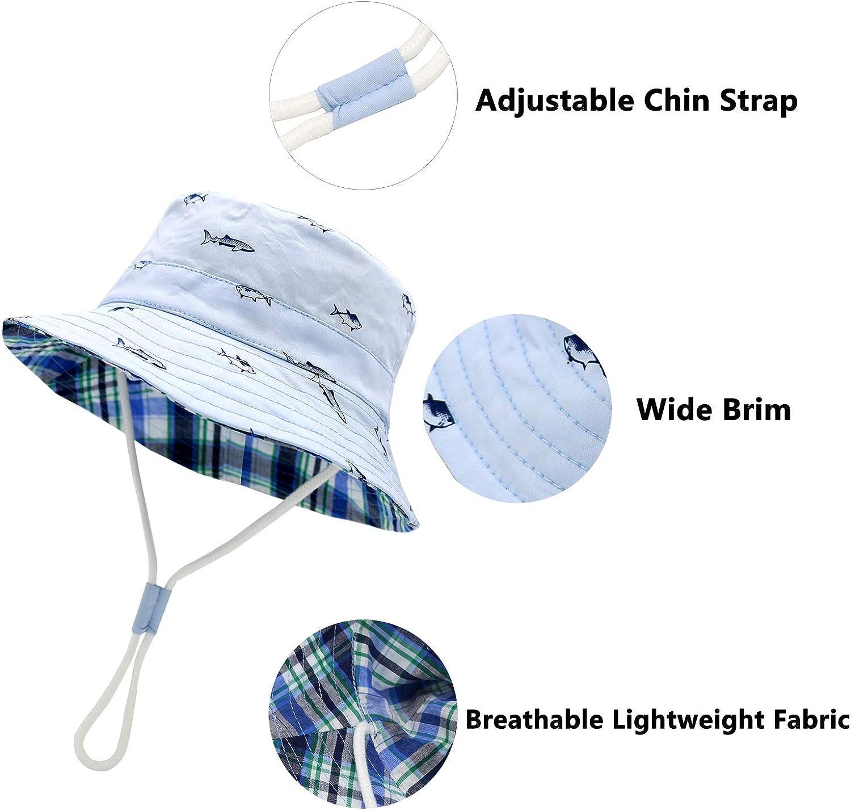 Sarfel Baby Sun Hat Toddler Summer Hats UPF 50+ Baby Bucket Hat Kids Beach Hats for Baby Boys: Clothing