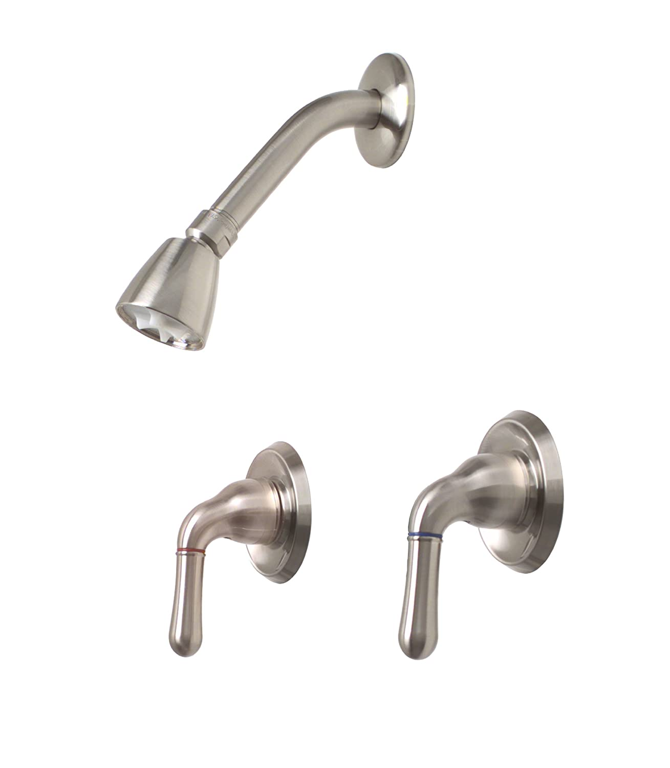 Premier 120188 Sanibel Two Handle Shower Faucet  Brushed Nickel   Tub And Shower  Faucets   Amazon comPremier 120188 Sanibel Two Handle Shower Faucet  Brushed Nickel  . 2 Knob Shower Faucet. Home Design Ideas