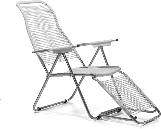 FIAM Spaghetti, Silla reclinable de jardín para exterior, Blanco: Amazon.es: Jardín
