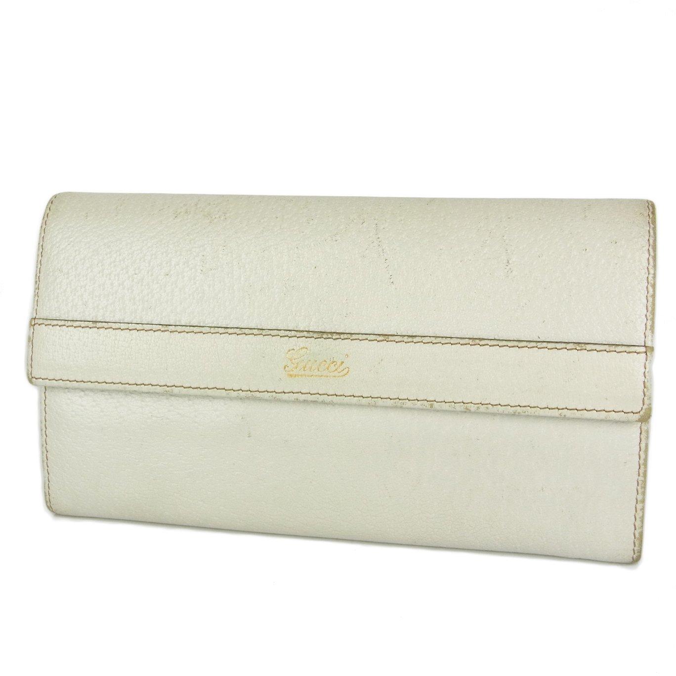 b3d723b102b8 Amazon | (グッチ) GUCCI GG ピッグスキン レザー×キャンバス 二つ折り 長財布 ホワイト 19339iSaM 中古 | 財布