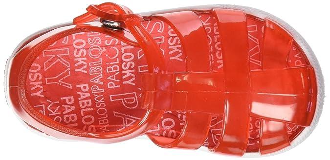 Pablosky 935862, Sandalo Unisex Bambino, Rosso, 24 EU