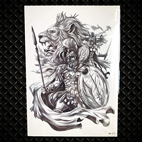 f34dcfe7b0fa5 Generic Lion King Warrior Temporary Tattoo Stickers Men Robot Arm Fake  Waterproof Maori Tattoos Body Art Black Totem Tatoo Paper GHB817:  Amazon.in: Beauty