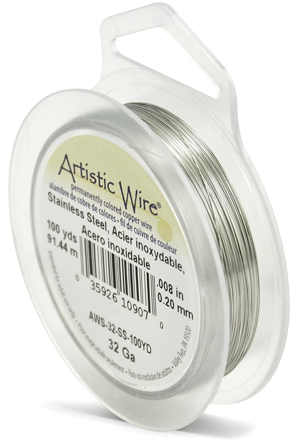 Amazon.com: Beadalon 32 Gauge Artistic Wire, Stainless Steel, 100-Yard
