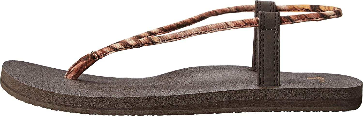 Sanuk Women Yoga Sling Fling Flip Flops Farbe: Dusty Yellow Größe:US 6 Eu 37