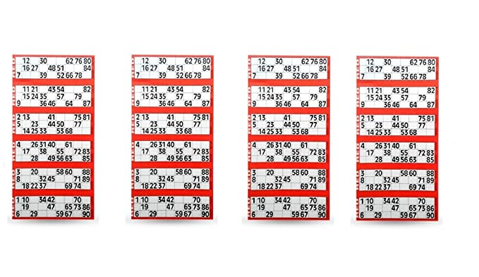 Tefarah Decor TAMBOLA Tickets Set for Ladies Kitty/Picnic/Festival (RED Color) 2400 Tickets