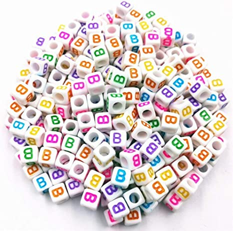 100pcs Letter Number Beads Acrylic DIY for Arts Craft Jewellery Making Keychains