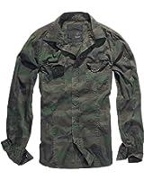 Brandit Men's SlimFit Shirt Woodland