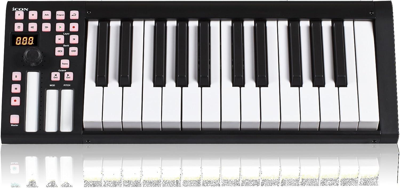 iCON iKeyboard 3 - Teclado MIDI (25 teclas, USB): Amazon.es ...
