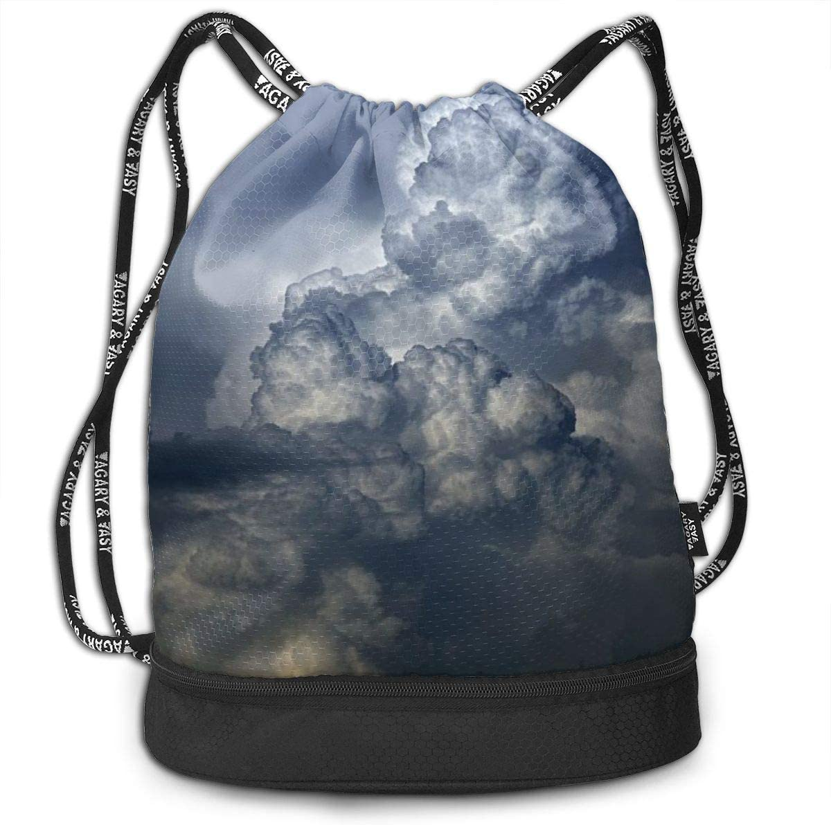 Cloud Pattern Printed Sackpack Women Kji Gym Sack Drawstring Bag Sport Cinch Pack Backpack for Men