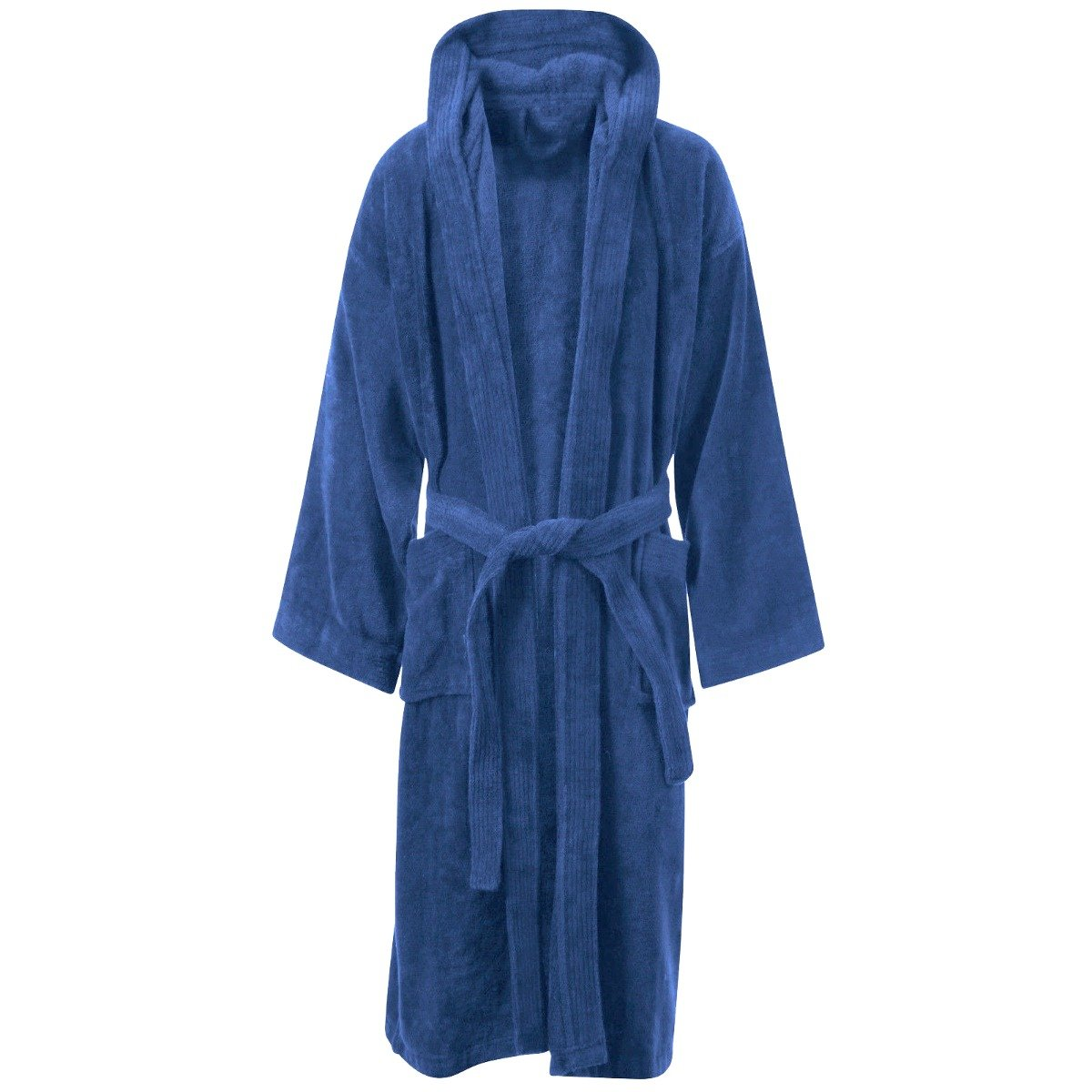 DNM & CO Hooded Cotton Toweling Bathrobe Gown