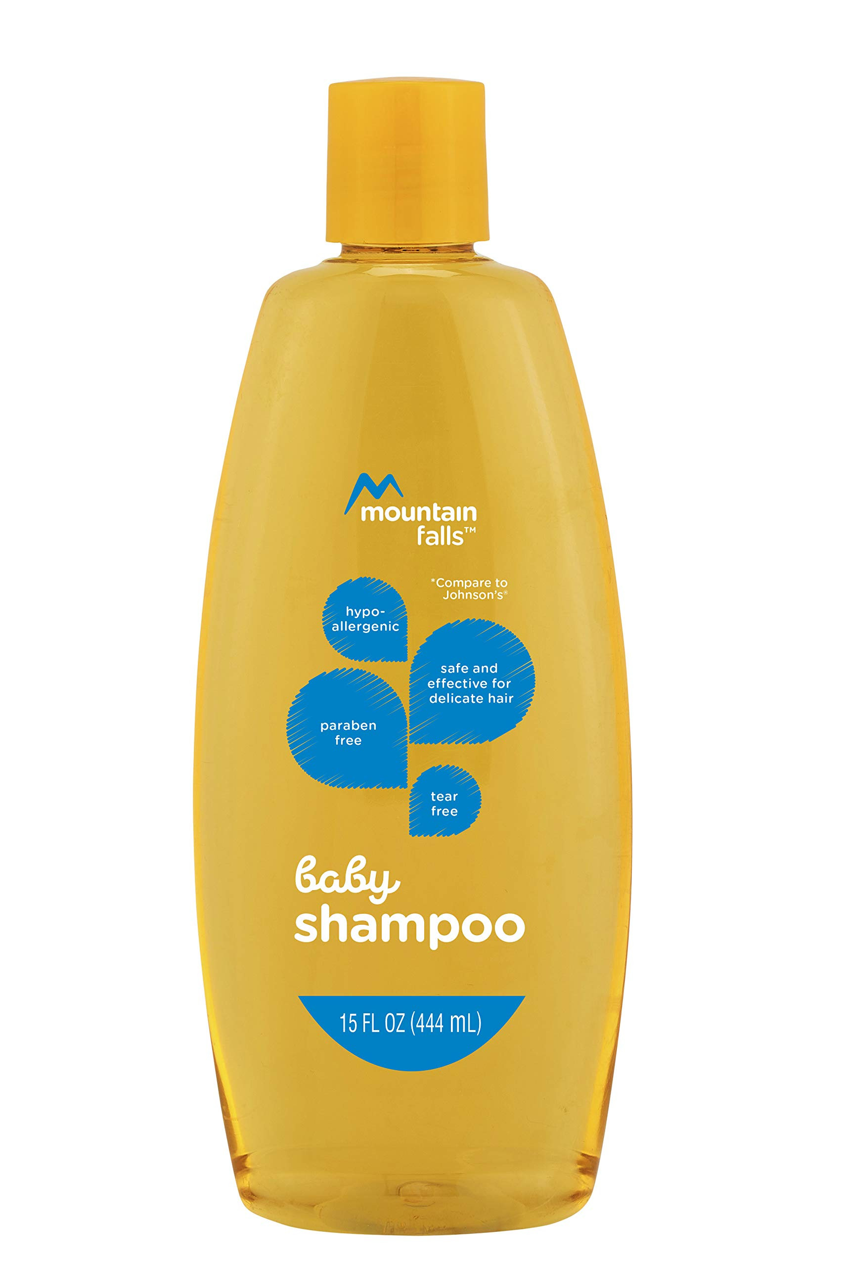 Mountain Falls Hypoallergenic Tear-free Baby Shampoo, Compare to Johnson's, 15 Fluid Ounce