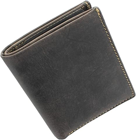 Black Surface//Orange Inside Holding 6-9Cards and Cash Credit Card Protector Domaxx RFID Blocking Mens Wallet-Super Slim Men/'s Wallet with Extra Large Credit Card Slots,Made with Genuine Leather
