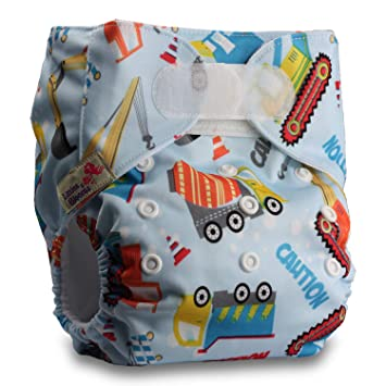 Reusable Pocket Cloth Nappy Littles /& Bloomz with 16 Microfibre Inserts Fastener: Hook-Loop Patterns 803 Set of 8