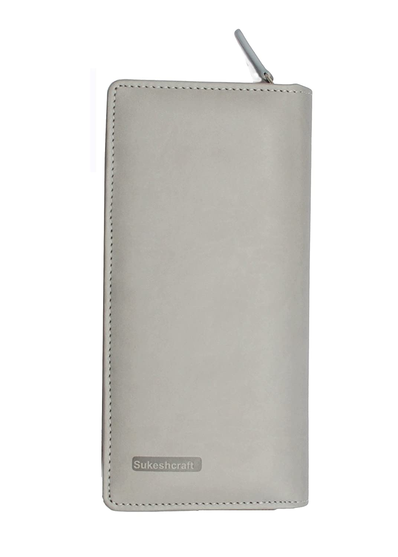 RFID Safe Passport Wallet- 8 Slots 1 Currency Holder Pocket,1 Boarding Pass Pocket Sukeshcraft Tree Passport Cover For 6 Passport Tree Rfid Blue