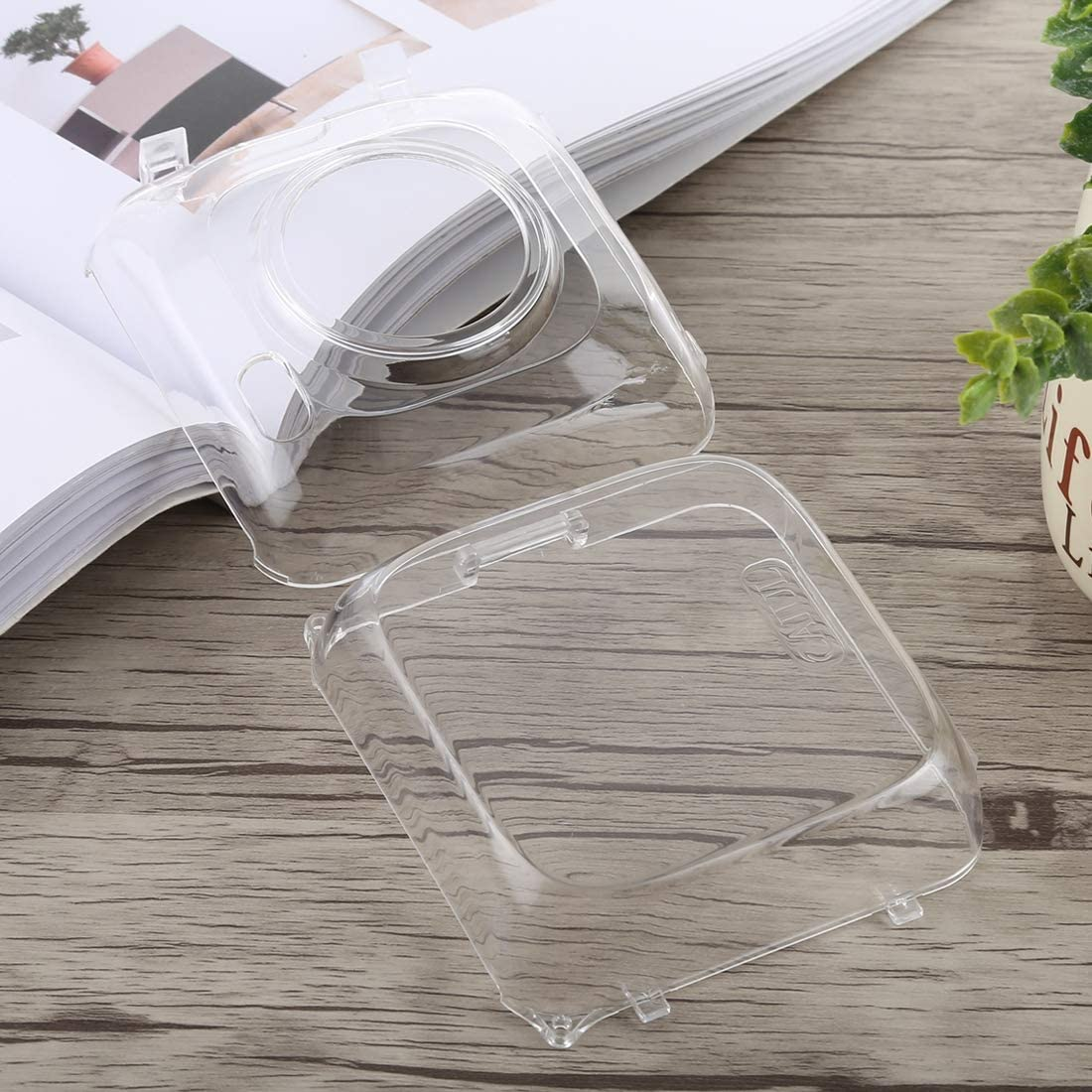 Color : Transparent Camera Bags Cases Protective Crystal Shell Case with Strap for PAPERANG Printer Transparent