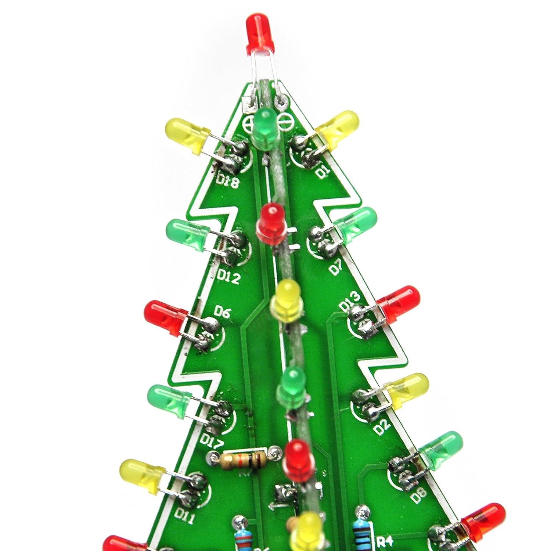 Amazon.com: Gikfun 3D Christmas Trees LED DIY Kit Flash LED Circuit ...